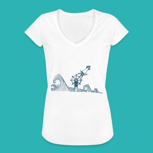 Carta_timone_blu-png - Maglietta vintage donna