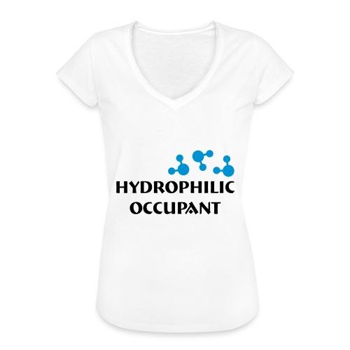 Hydrophilic Occupant (2 colour vector graphic) - Women's Vintage T-Shirt