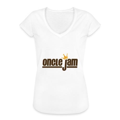 Oncle Jam horizontal brun - T-shirt vintage Femme