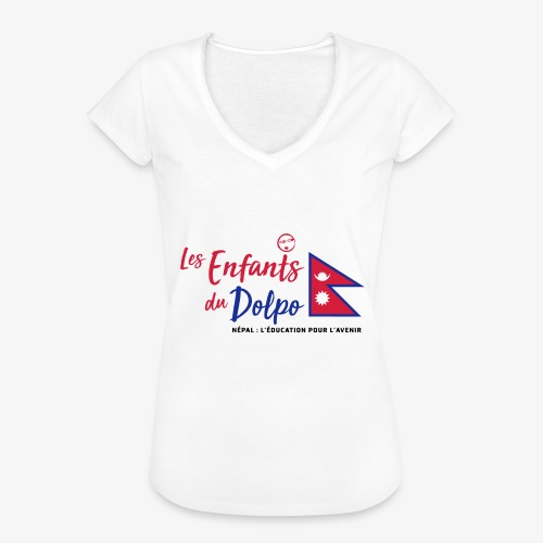 Les Enfants du Doplo - Grand Logo Centré - T-shirt vintage Femme
