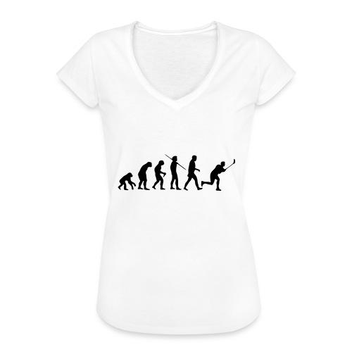 Floorball Evolution Black - Frauen Vintage T-Shirt