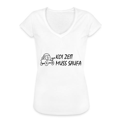 KoiZeit Saufa - Frauen Vintage T-Shirt