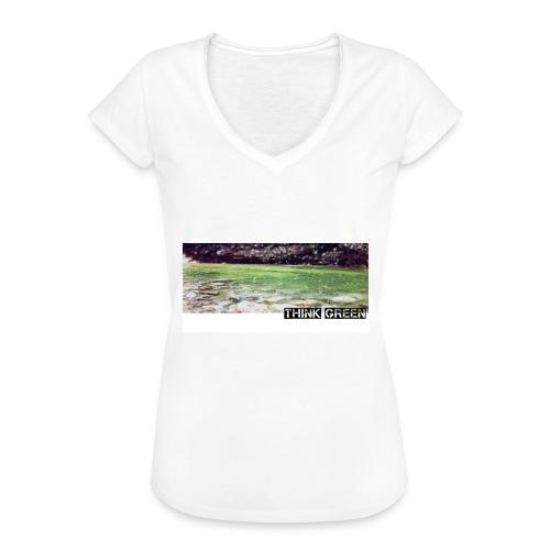 Think green - Frauen Vintage T-Shirt
