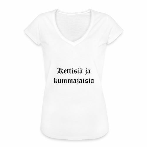 Kettisiä ja kummajaisia - Naisten vintage t-paita