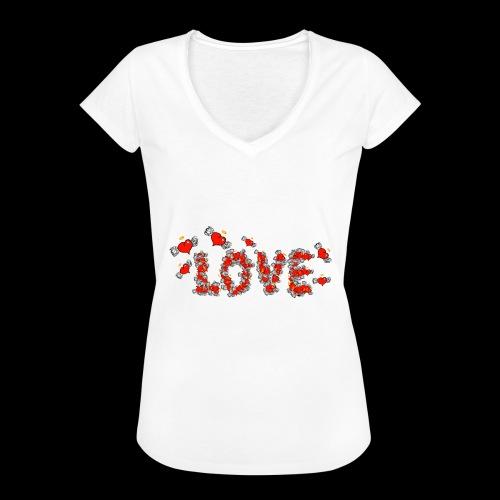 Flying Hearts LOVE - Women's Vintage T-Shirt