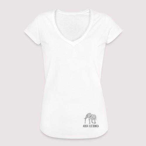 Elefant Schwarz - Frauen Vintage T-Shirt