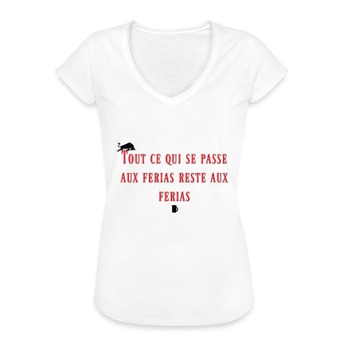 Férias - T-shirt vintage Femme