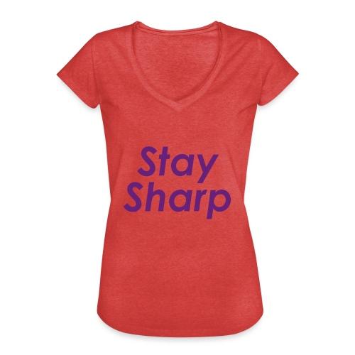 Stay Sharp - Maglietta vintage donna