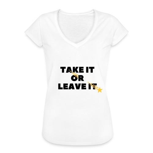 Take It Or Leave It - T-shirt vintage Femme