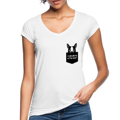If You Love Me Let Me Sleep - T-shirt vintage Femme