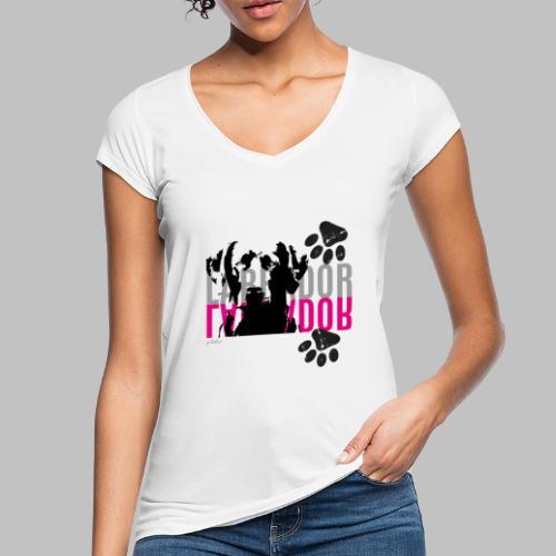 Labrador Kopf Pfoten - Frauen Vintage T-Shirt