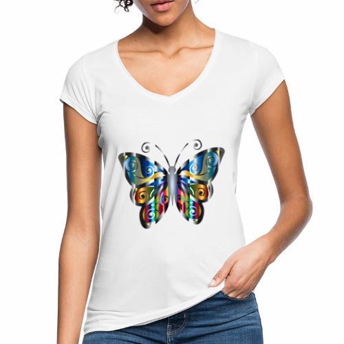 butterfly - Koszulka damska vintage