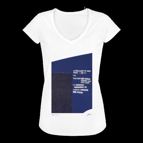 poème bleu 01 - T-shirt vintage Femme