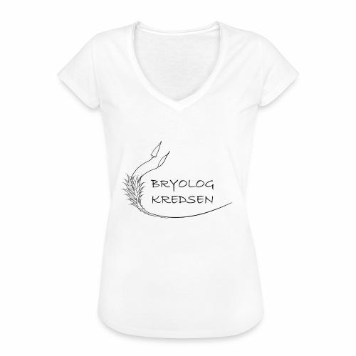 Bryologkredsen - sort logo - Dame vintage T-shirt