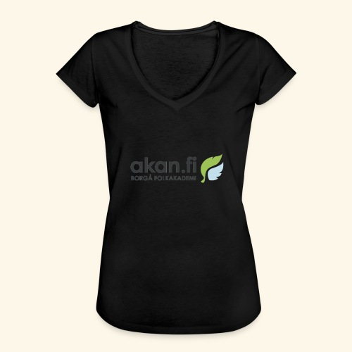 Akan Black - Naisten vintage t-paita