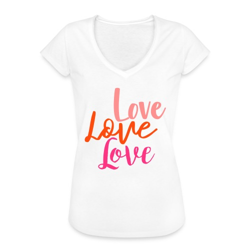 love love love - Frauen Vintage T-Shirt