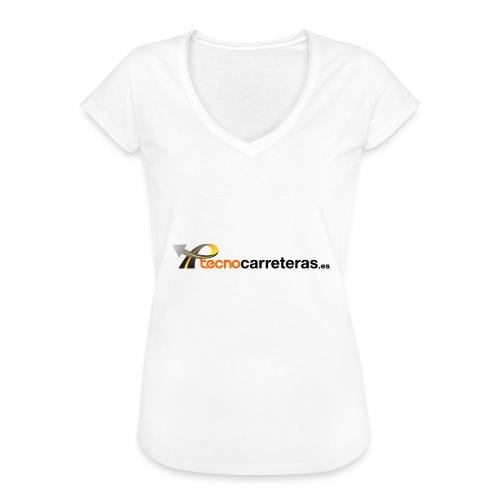 Tecnocarreteras - Camiseta vintage mujer