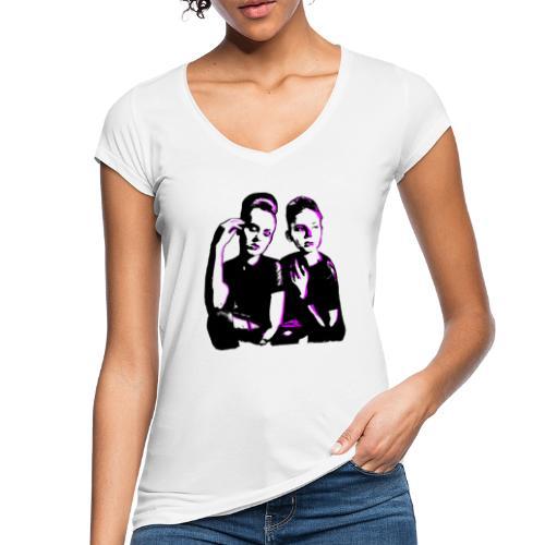 ATTITUDE<>WOKE (pink) - Dame vintage T-shirt