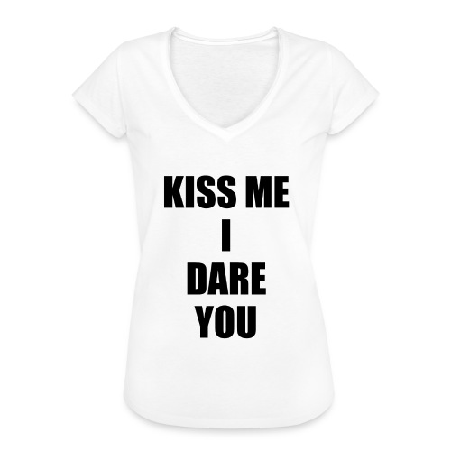 KISS ME I DARE YOU - Camiseta vintage mujer