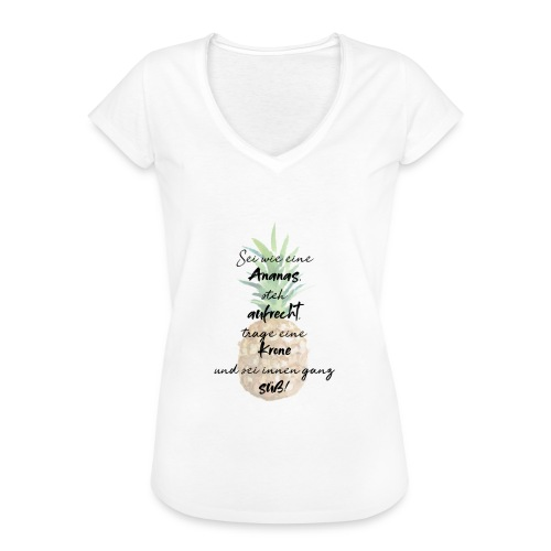 Ananas ist süß! - Frauen Vintage T-Shirt