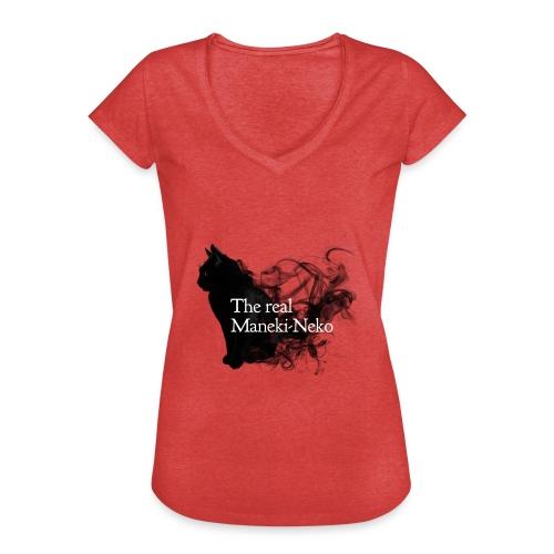 The real Maneky-neko - Camiseta vintage mujer