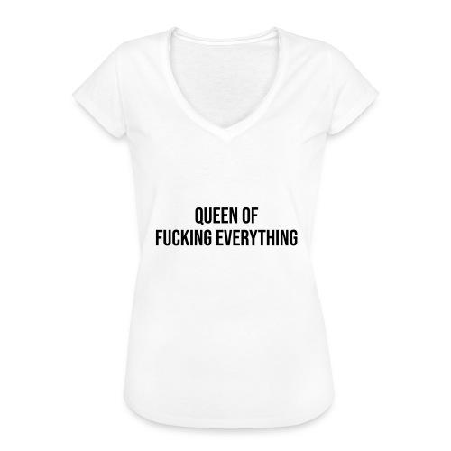 Queen of f**** everything - Frauen Vintage T-Shirt