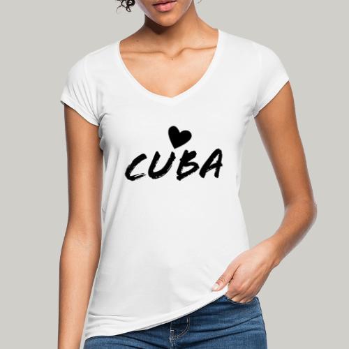 Cuba Herz - Frauen Vintage T-Shirt