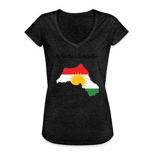 Ez kurdim u serbilindim - Vintage-T-shirt dam