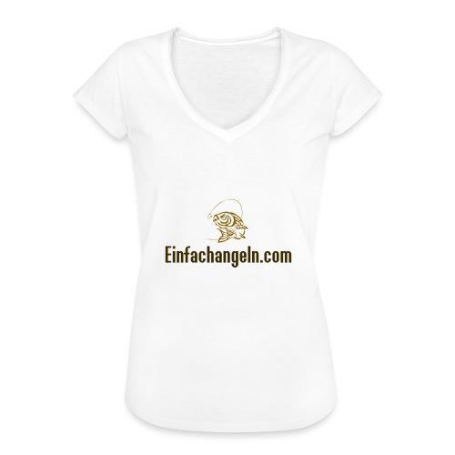 Einfachangeln Teamshirt - Frauen Vintage T-Shirt