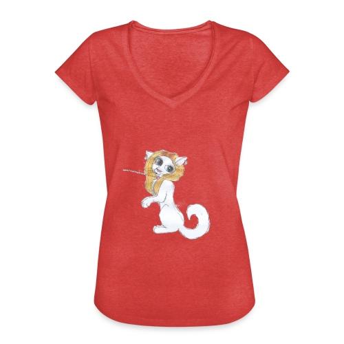 Comic Katze - Frauen Vintage T-Shirt