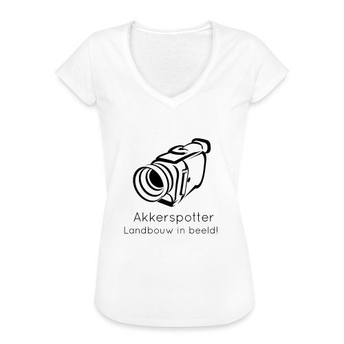 Logo akkerspotter - Vrouwen Vintage T-shirt