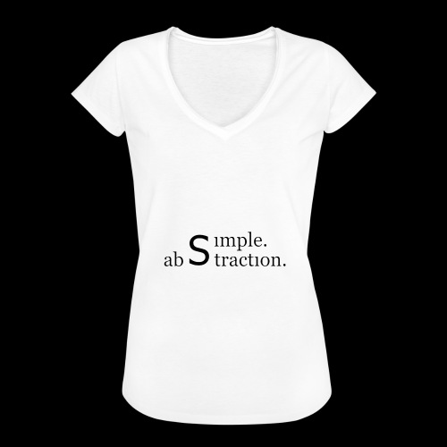 simple. abstraction. logo - Frauen Vintage T-Shirt