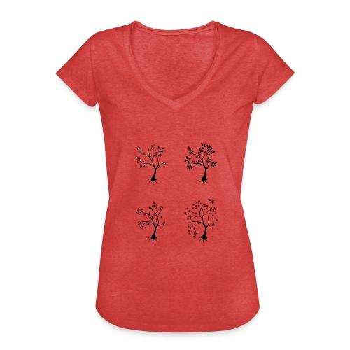 Vuodenajat - Naisten vintage t-paita