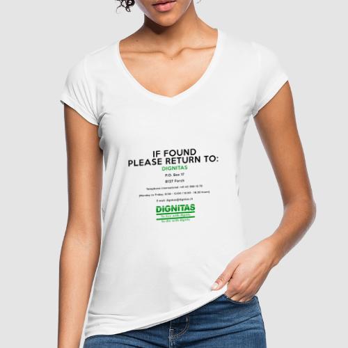 Dignitas - If found please return joke design - Women's Vintage T-Shirt