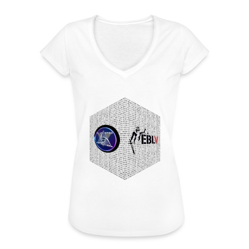 disen o dos canales cubo binario logos delante - Women's Vintage T-Shirt