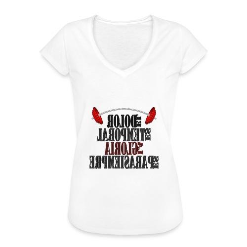 Para el Espejo: GYM - DOLOR TEMPORAL - Camiseta vintage mujer