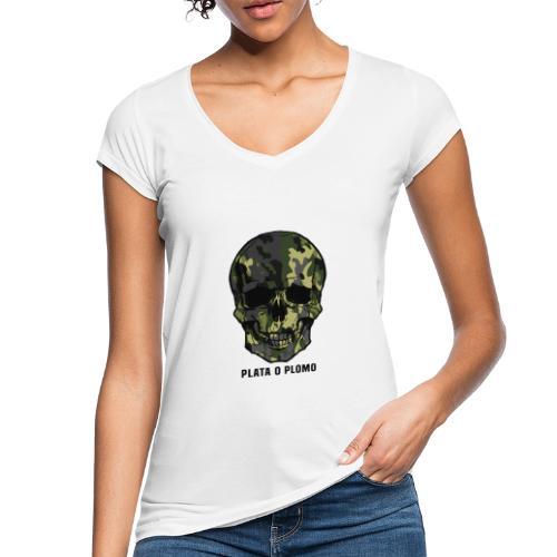 Colombian skull - plata o plomo - Frauen Vintage T-Shirt