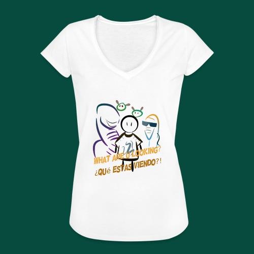 Que estas mirando? - Camiseta vintage mujer