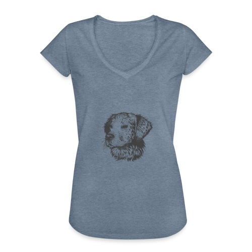 koiran kuva - Naisten vintage t-paita