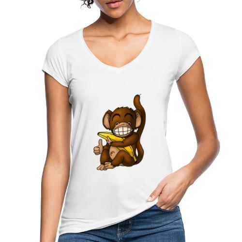 Super Fröhlicher Affe - Frauen Vintage T-Shirt