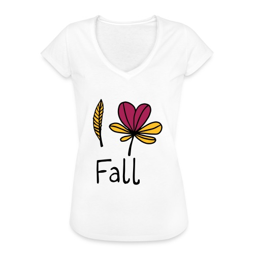 Fall in love - Frauen Vintage T-Shirt