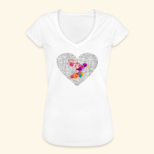 Colibri heart - Camiseta vintage mujer