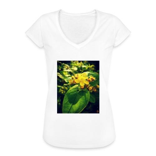 Fleur - T-shirt vintage Femme