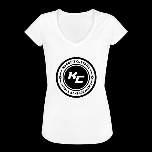 kc_tunnus_2vari - Naisten vintage t-paita
