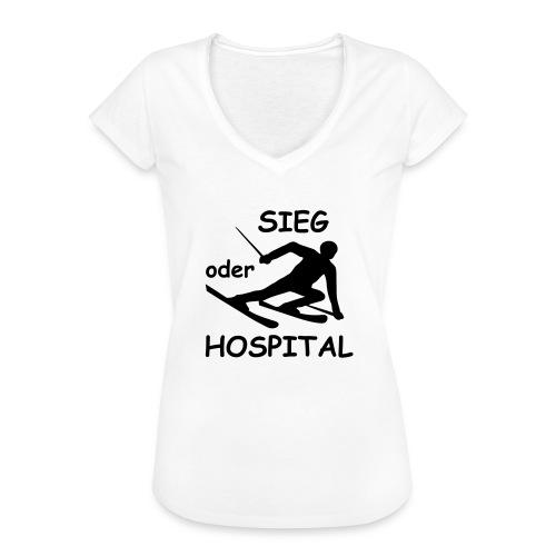 Sieg oder Hospital - Frauen Vintage T-Shirt