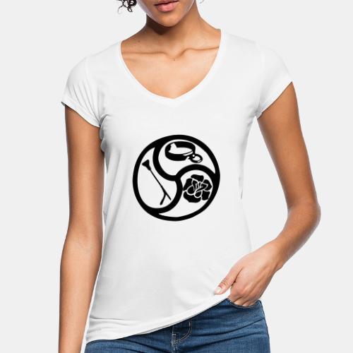Triskele triskelion BDSM Emblem HiRes 1 color - Frauen Vintage T-Shirt