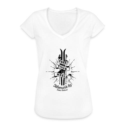 FreeYourHeels_merge - Naisten vintage t-paita
