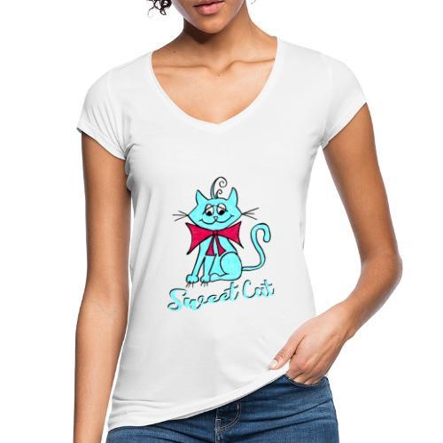 Niedliche kleine blaue Katze, Sweet! - Frauen Vintage T-Shirt
