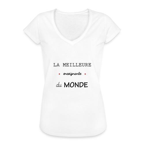 la meilleure enseignante du monde XXL - T-shirt vintage Femme