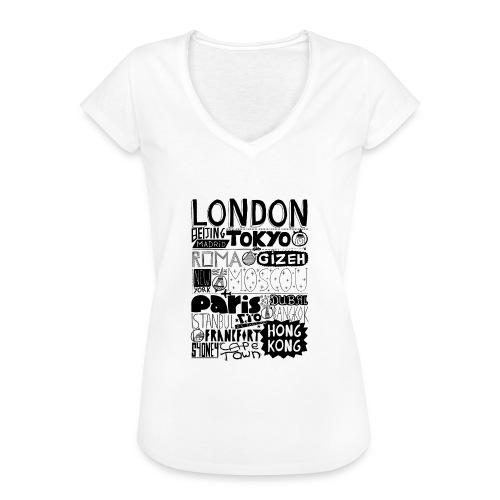 Villes du monde - T-shirt vintage Femme